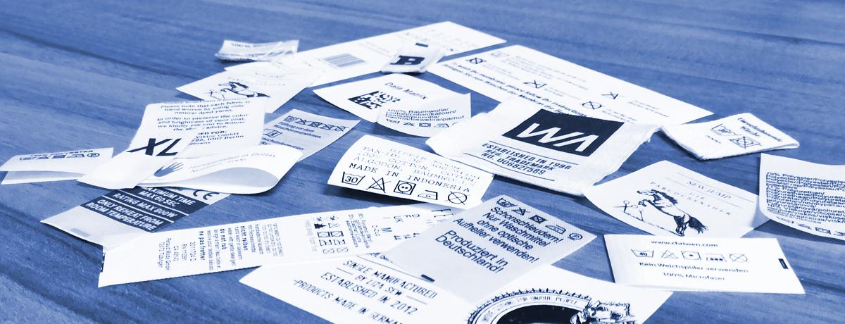 Aufmachungenarten - Faltungen für Textil Etiketten