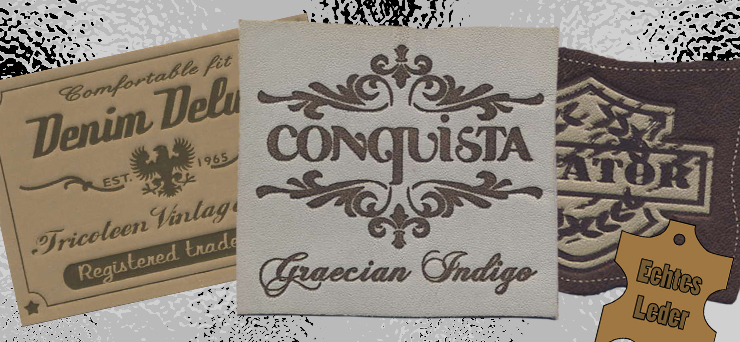 Imitation Leather and Leather label